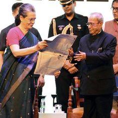 तब लगा था कि सोनिया गांधी मुझे प्रधानमंत्री बना सकती हैं : प्रणब मुखर्जी