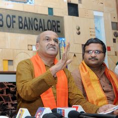 Sri Ram Sene chief booked for saying Bengaluru temple that held iftar party must be 'cleansed'