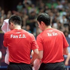 In a country where public revolts are rare, China's table tennis stars are standing strong
