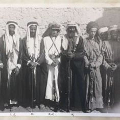 Photographs of tribal leaders from UAE back when it was under British control