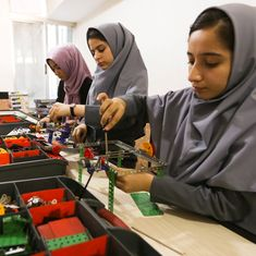 US denies 2 Afghan girls visas for a competition, but the robot they built can pass border security