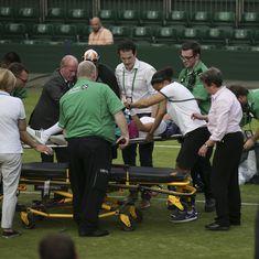 Wimbledon: Mattek-Sands horror injury puts Djokovic, Federer in shadow on fourth day
