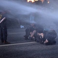 At least 76 police officers injured in anti-G20 protests in Hamburg, say officials