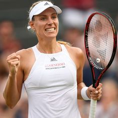 Wimbledon: Angelique Kerber moves into third round with straight-sets win over Kirsten Flipkens