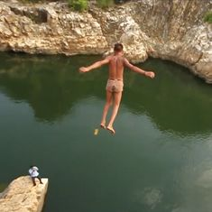 Video: These boys from Madhya Pradesh jump off cliffs for a living