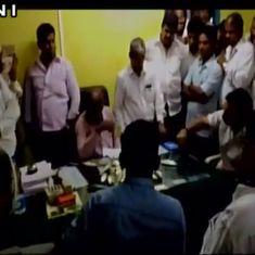 Caught on Camera: Congress MLA throws a dead fish at a senior Maharashtra government officer