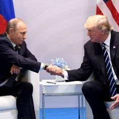 Donald Trump hopes for 'positive things for Russia and US' after first meet with Vladimir Putin