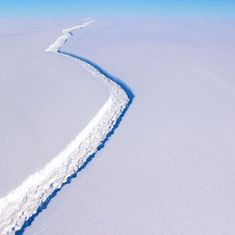 Watch: This Antarctic iceberg is about to break off from its shelf