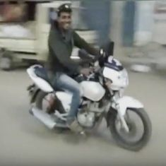 Watch: Drunk man in Karnataka rode off on a police bike in a very short (and funny) chase