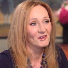 Watch: JK Rowling has a secret fairytale scribbled on a party dress hanging in her wardrobe