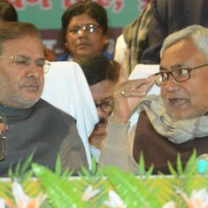 Bihar: Supporters of Nitish Kumar, JD(U) leader Sharad Yadav clash outside CM's residence