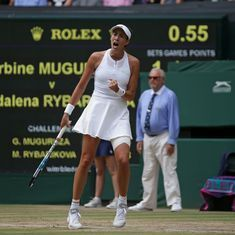 Wimbledon: Garbine Muguruza moves into the final with a one-sided win over Magdalena Rybarikova
