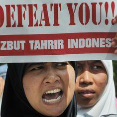 Indonesia bans Hizbut Tahrir group under a decree that gives the government unrestrained power