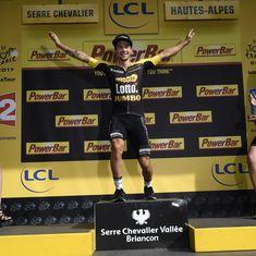 Former champion ski-jumper Primoz Roglic wins 17th stage of Tour de France
