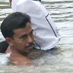 Video: This teacher in Kerala has to walk through a river to reach school everyday