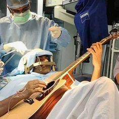Watch: Bengaluru man plays a guitar while his brain is being operated upon