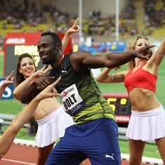 Usain Bolt warms up for World Championships with season-best of 9.95 seconds in Monaco