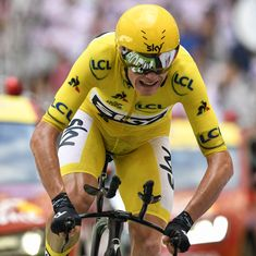Chris Froome on brink of fourth Tour de France crown after finishing third in 20th stage time-trial