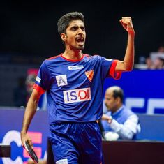 G Sathiyan stuns world No 8 Wong Chun Ting in Ultimate Table Tennis