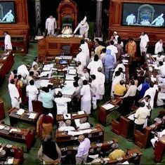 Lok Sabha speaker suspends six Congress MPs for five days after they disrupt proceedings