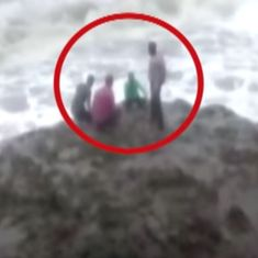 Tragedy on camera: Four young men drown while taking selfies on Diu beach
