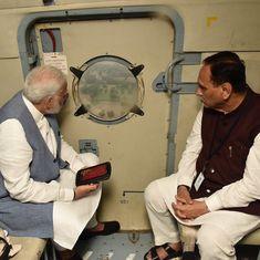 Gujarat: Modi surveys flood-hit areas by chopper, announces Rs 2-lakh compensation