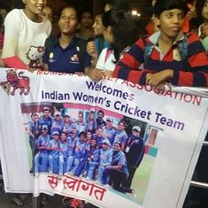 Watch: Mithali Raj and Co receive a rousing welcome at Mumbai airport late night