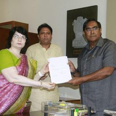 Congress Chief Whip in the Gujarat Assembly Balwantsinh Rajput joins BJP after resigning from party
