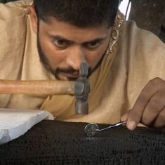 Video: Meet Wajid Khan, the artist who creates portraits with iron nails