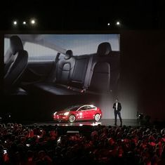 Tesla hands over first 30 Model 3 cars to employee buyers