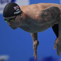 Lions, mermaids, springboks: Swimmers are flashing tattoos as much as medals at world championships