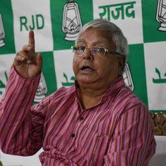Bihar: Lalu Prasad Yadav accuses CM Nitish Kumar of being greedy for power