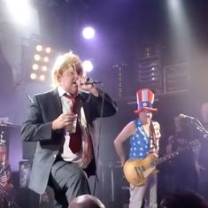 Watch: A British punk singer was deported from America for impersonating Donald Trump