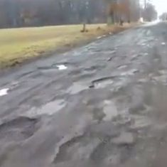 Watch: Aghast by the number of potholes he finds, this man cannot keep his cool