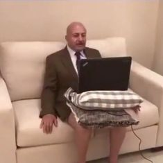 Watch: Political expert caught without his pants in behind-the-scenes video of live TV interview