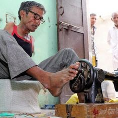 Video: Meet the armless tailor from Haryana who sews with his toes