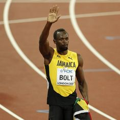 Usain Bolt's farewell race ends in injury as Britain win 4x100m relay gold