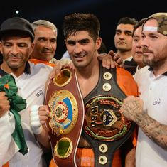 Vijender Singh offers to return championship belt to China as 'message of peace'
