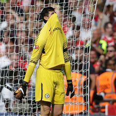 'Courtois's penalty has just been spotted orbiting earth': Twitter smirks as Arsenal beat Chelsea