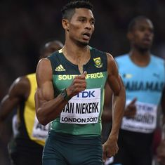 Wayde Van Niekerk out for nine months after injuring knee in celebrity rugby match