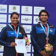 Kynan Chenai, Shreyasi Singh win Mixed Team Trap bronze at Asian Shotgun Championship
