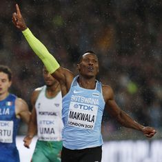 Running alone, fuelled by anger Isaac Makwala surges into 200m final