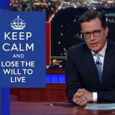 Watch: Stephen Colbert has a field day parodying BBC anchor's 'Most Unenthusiastic Report Ever'