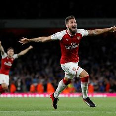 Olivier Giroud nets winner as Arsenal defeat Leicester City 4-3 in opening day thriller