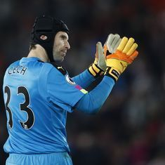 Arsenal's Petr Cech gets into Twitter spat with Bundesliga club Bayer Leverkusen