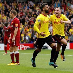 Premier League: Watford's Miguel Britos late equaliser stuns Liverpool in 3-3 draw