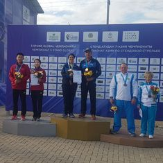 Mairaj Ahmad Khan and Rashmmi Rathore bag mixed skeet gold at Asian Shotgun Championships