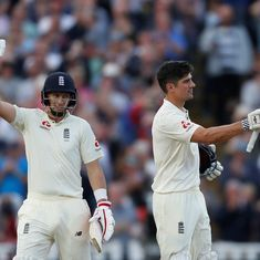 Ton-up Alastair Cook, Joe Root flay West Indies attack as England reach commanding 348/3 on day one