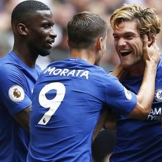 Marcos Alonso's double helps Chelsea beat Tottenham,  Huddersfield Town's dream start continues
