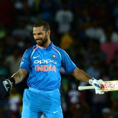 Shikhar Dhawan is playing with authority and that augurs well for India